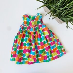 Carter's Polka Dot Tank Top Dress Girls Size 9M